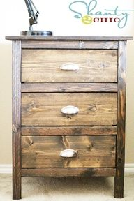 reclaimed wood dresser...$30-$35..cute, cheap & you can build it to any size you would like, customable