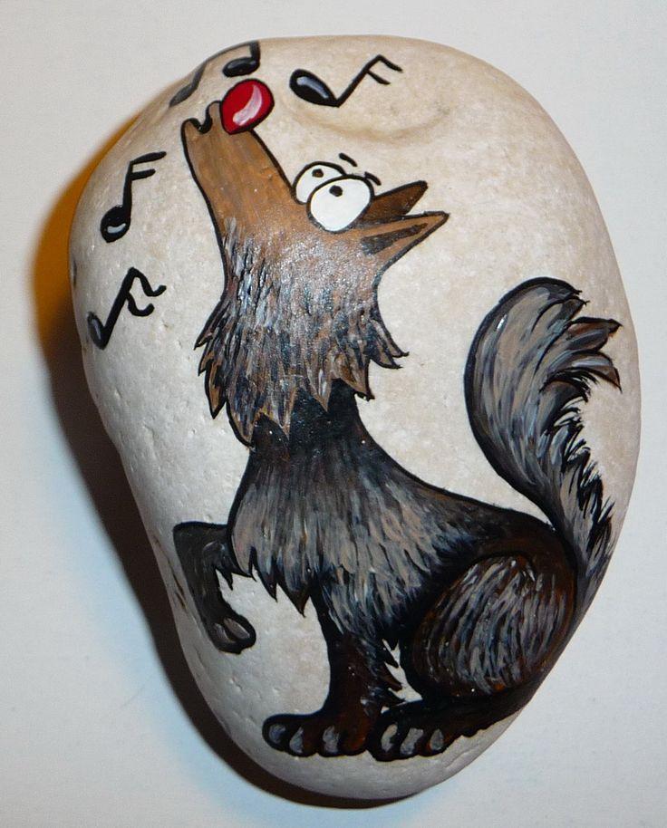 Malování na kameny - Vyjici_pes (P1130485.jpg)