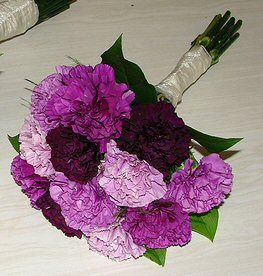wedding Purple Carnation Bouquet, or maybe even this...