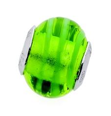 Amore & Baci 14108 green Murano glass bead
