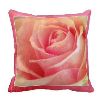 Pink Rose Throw Cushions