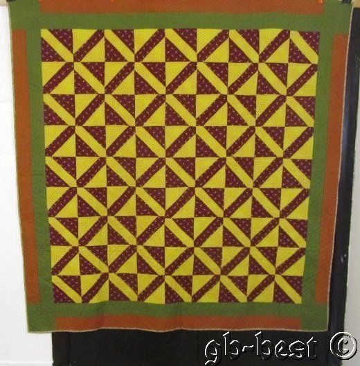 Fantastic 1890 1900s Hour Glass Antique Quilt Jockey Horse Cranberry Yellow Gree | eBay