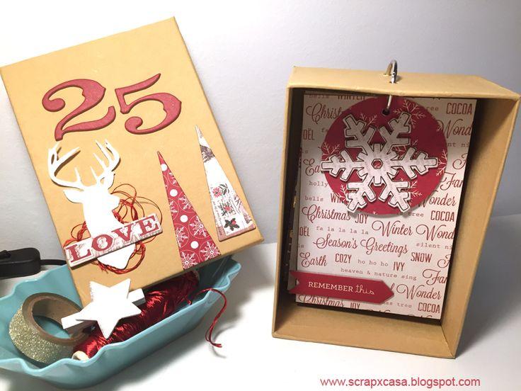 """SCRAPXCASA: Tutorial """"Mini de Navidad en Caja"""""""