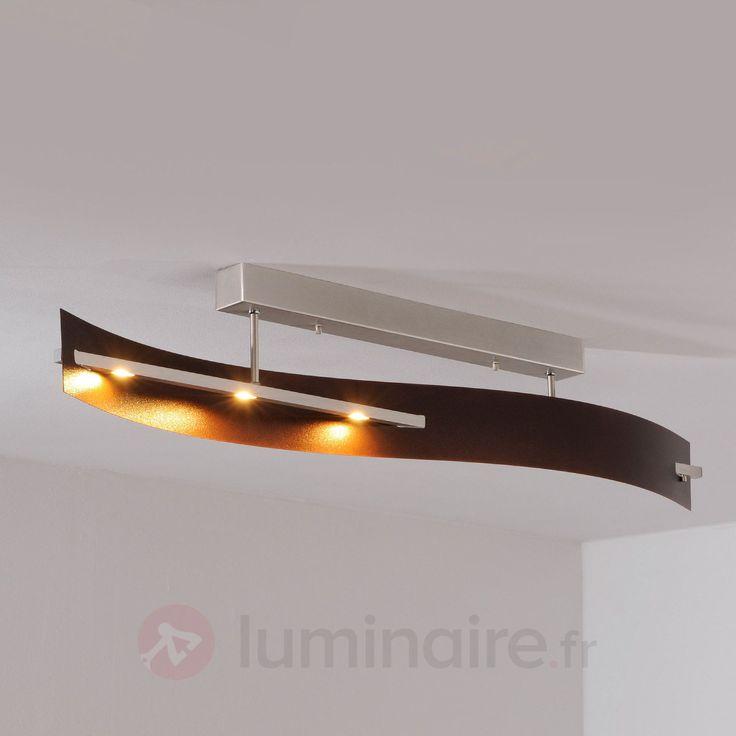 Plafonnier LED Talu à l'aspect cuivre antique sicher & bequem online bestellen bei Lampenwelt.de.