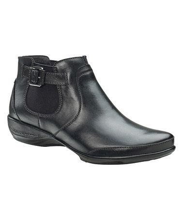 Black Amy Leather Ankle Boot by Aetrex #