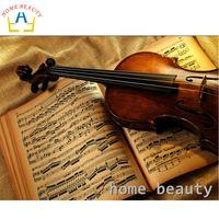 5d diy pintura diamante imagem kit de BELEZA CASA de violino da música de strass teste padrão do diamante bordado pintura mosaico AA928