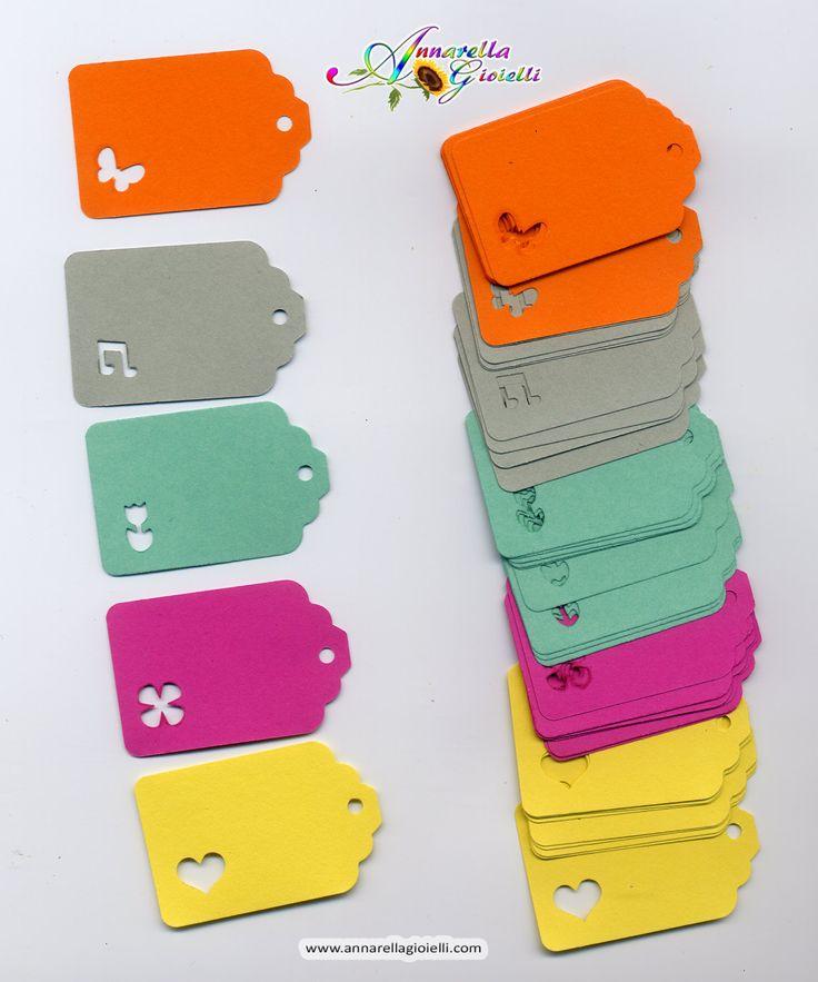 50 pezzi, Cartellini per creazioni , tag prezzi, multicolor, etichette, display jewelry, price tag di annarellagioielli su Etsy