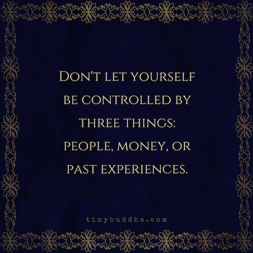 Don't let yourself be controlled by three things  Check: http://www.illulife.com/ for more!