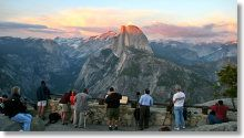 Glacier Point and Half Dome at sunset - Glacier point hike information