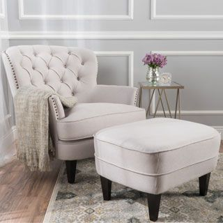 Tafton Tufted Fabric Club Chair with Ottoman by Christopher Knight Home   Natural Beige   Polyester Blend. Best 25  Online furniture ideas on Pinterest   Industrial