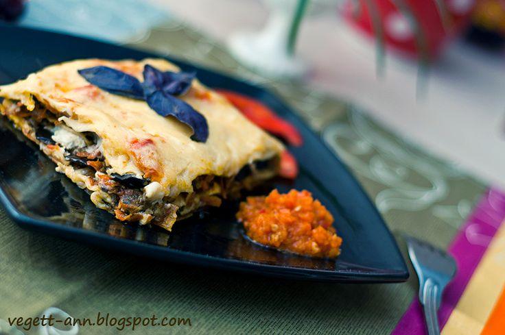 Рецепты вегетарианские. Пошаговые рецепты с фото.: Лазанья вегетарианская