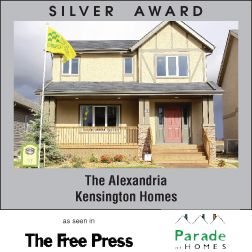 The Alexandria - New home builder Kensington Homes wins awards for newly built residential home construction in Winnipeg Manitoba