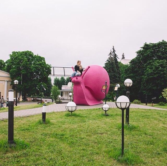 Cracking Art - Snails Invasion @ VDNKh, Moscow (Photo by...