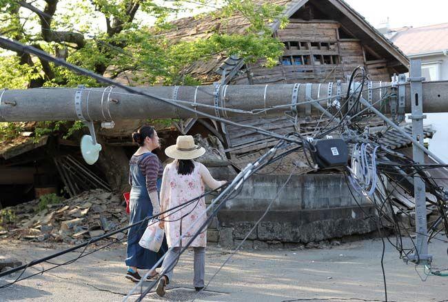 熊本県で震度7の地震 写真特集