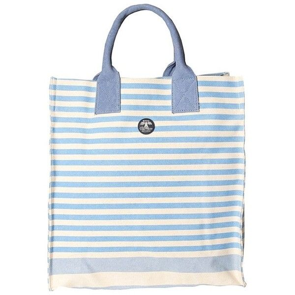 Women's Barbour Coast Tote - Blue / Glacier (5.180 RUB) ❤ liked on Polyvore featuring bags, handbags, tote bags, cotton canvas tote bags, tote purses, blue tote bag, beach bag and beach tote bags