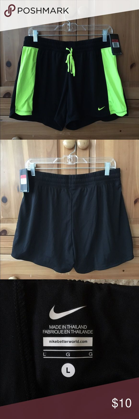 Nike Training Shorts Women's training shorts. Stay-cool Dry-Fit. Brand new with tag. Never been worn. Black will go with everything. Light weight. Nike Shorts Skorts