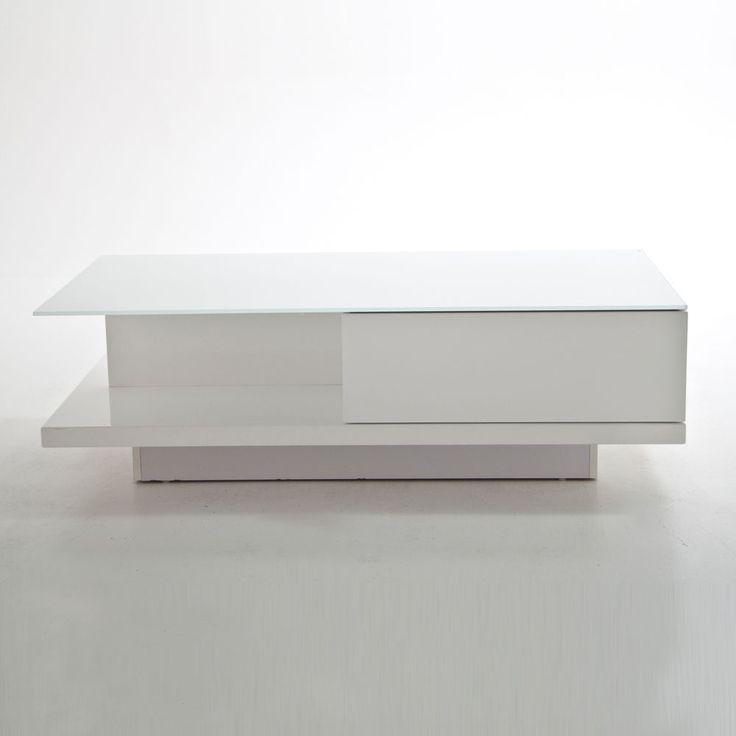 Couchtisch Jeff Wohnzimmer Tisch In Weiss Hochglanz Kristallglas 120x60 Cm