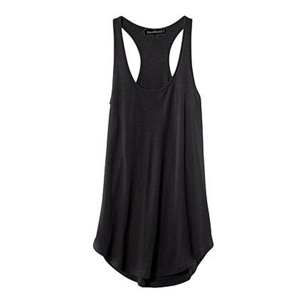 Black Racer Back Sleeveless Round Neck Tank ($10) ❤ liked on Polyvore featuring tops, tanks, black tank, black sleeveless top, black top, racerback tops and black singlet