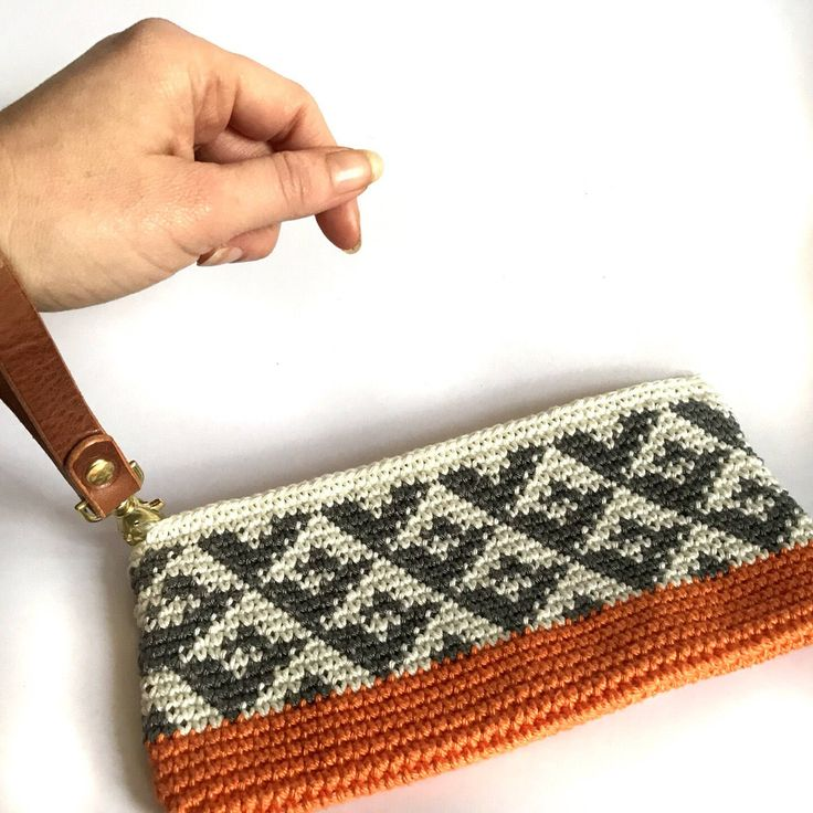 Statement clutch, unique tribal wristlet, stylish clutch, cotton bag, medium clutch, crochet bag, orange clutch bag, cotton leather bag by lilyandleigh on Etsy https://www.etsy.com/uk/listing/585439583/statement-clutch-unique-tribal-wristlet