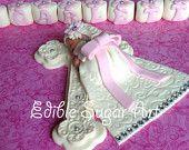BAUTIZO primero de la torta de la niña de bautizo vestido BaptismDiamond bautismo cruz vestido de comunión tachonado