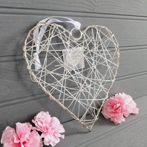 silver hanging.love hearts - Google Search