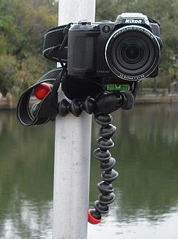 Joby GorillaPod Hybrid tripod. For use in areas that my classic tripod won't succeed