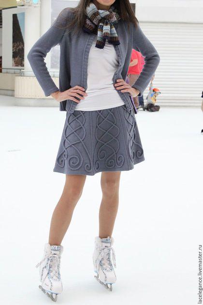Вязание ручной работы. Ярмарка Мастеров - ручная работа. Купить Skate skirt инструкция (жакет и юбка - только для вазальной машины). Handmade.