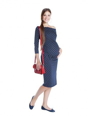 Maternity perfect! Beautiful maternity super jersey dress with polka dots! Now available at www.nanarisematernity.com #nanarisematernity #maternitydresses