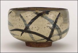 Tea bowl with design of pampas grass, by Ogata Kenzan (1663–1743) - The Kenzan Style in Japanese Ceramics