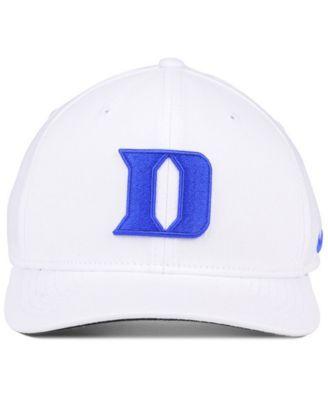 Nike Duke Blue Devils Classic Swoosh Cap - White M/L