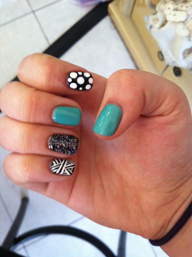 Cute multi design nail art gel polish stuff from work as - Cute nail polish designs to do at home ...