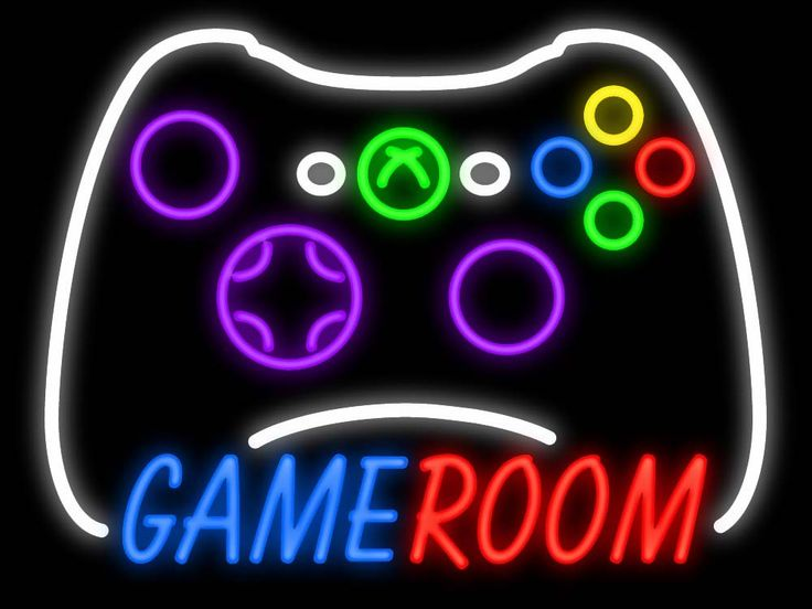sign game room neon xbox controller signs games gamer rooms customized bar lighting boys cave handcrafted tuble advertisement decoration glass