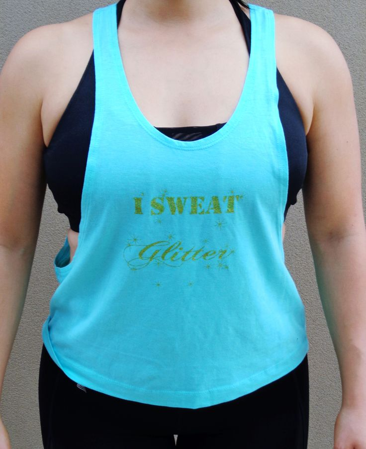 Our ever popular SychoFit Glitter Tank in Aqua! Get it now at www.energoapparel.com.au
