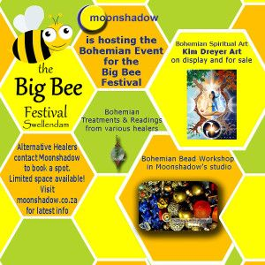 Moonshadow is hosting the Bohemian event at #Swellendam's Big Bee Festival this year! Lots to do and see...