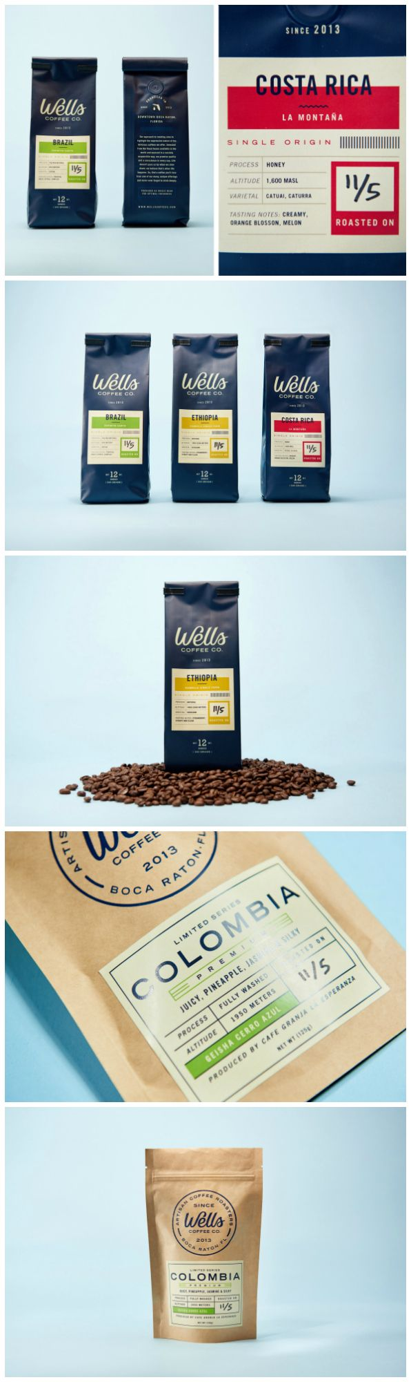Authentic Design Refresh for Florida's Wells Coffee Co. Overall Branding and Packaging Design Agency: Steve Wolf Designs ​​​​​​​Project Name: Wells Coffee Co. Category: #coffee #drink