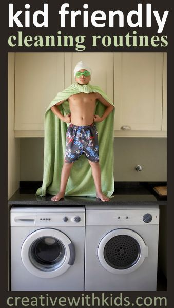 Kid Friendly Cleaning Routines - Making cleaning routines that work with kids.