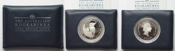 1996 Australien 1 oz silver AUSTRALIAN KOOKABURRA 1 Dollar 1996 in folder w. cert. Proof # 94518 Proof