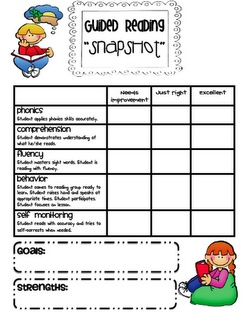 Guided Reading Assessment Report for parents Standard 1 Knowledge of literacy 1.1 plan and organize instruction based on ongoing assessment.