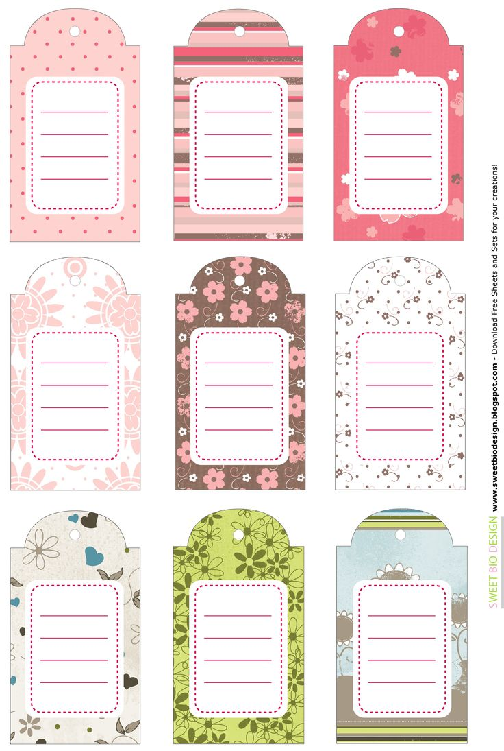 SBDSet Targhette!!! - Tags Set!!!by SweetBioDesign