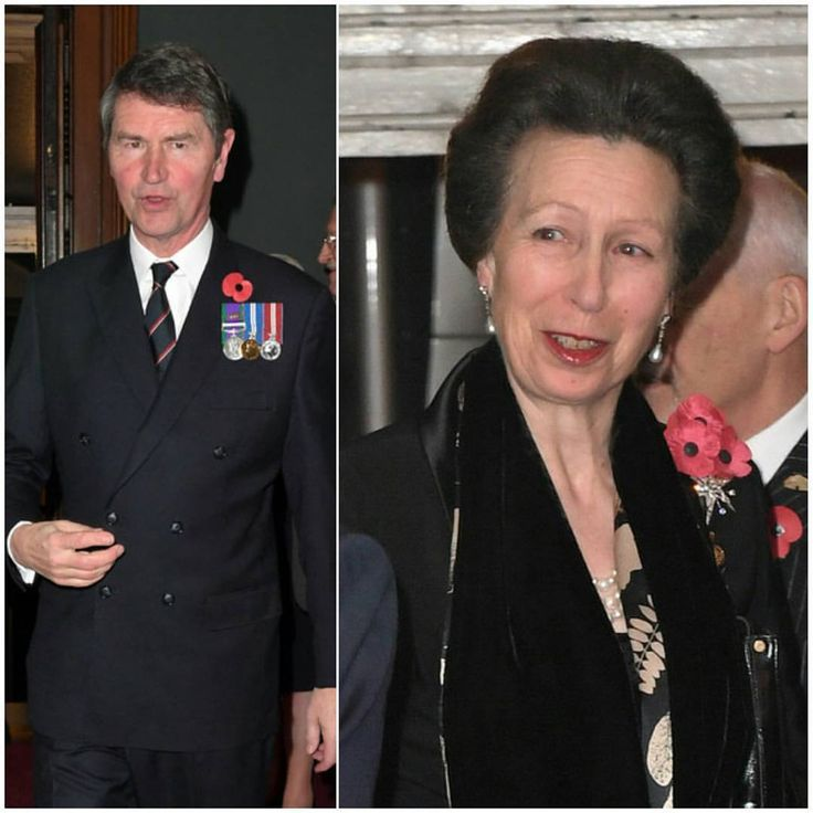 Sir Timothy Laurence and the Princess Royal at the annual Royal Festival of Remembrance at the Royal Albert Hall on November 12, 2016 in London
