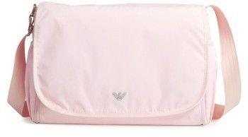 Armani Junior Infant Nylon Messenger Diaper Bag - Pink