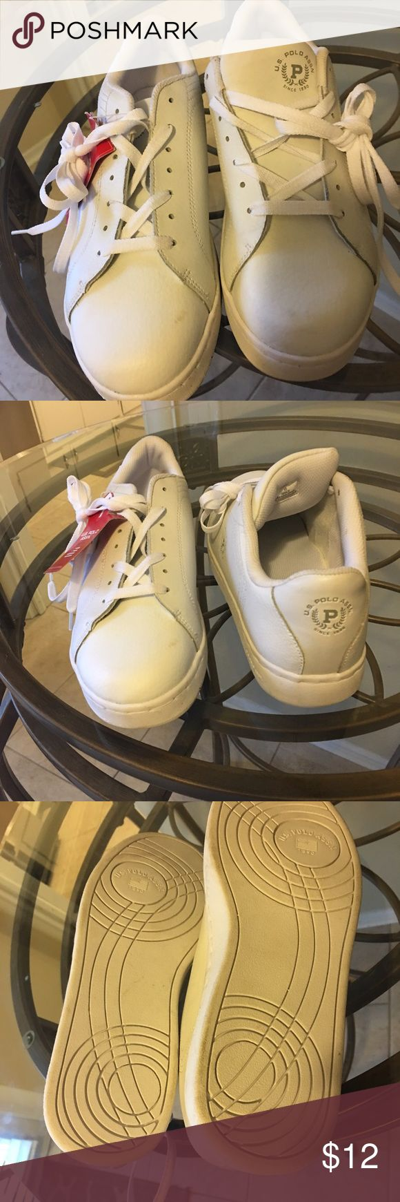US Polo Association tennis shoes US Polo Association tennis shoes. White. New with tags. Size 10 women's. US Polo Association Shoes Sneakers