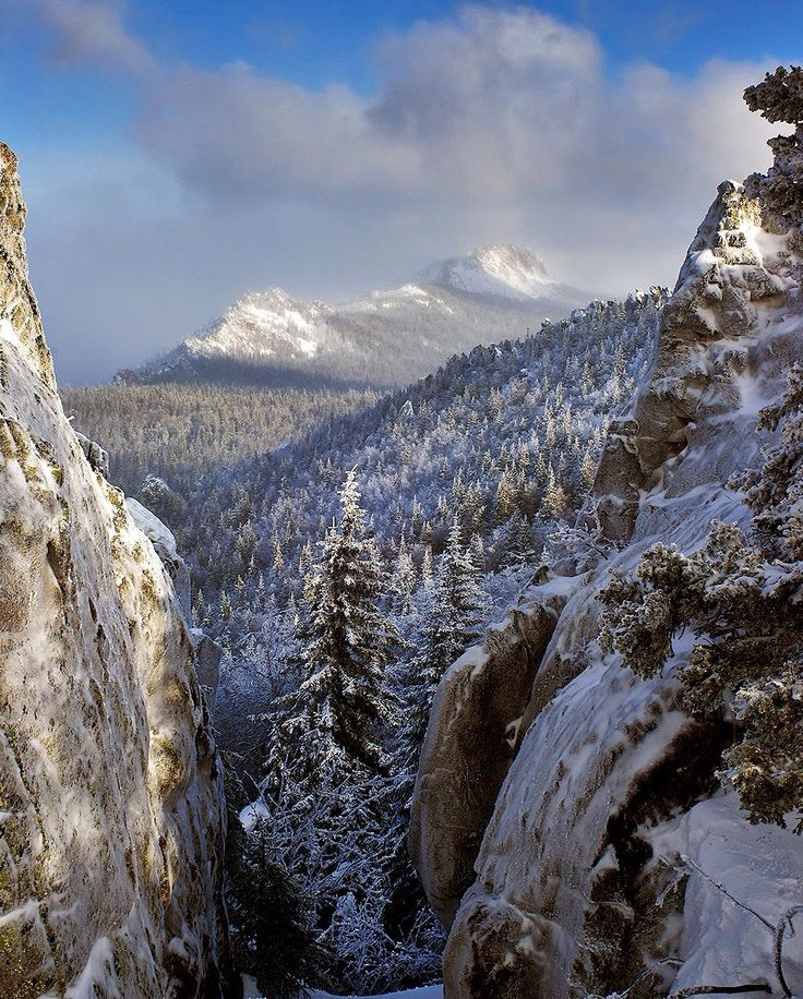 Ural Mountains - The traditional border between Europe & Asia. The 1550 mile mountains run from the coast of the Arctic Ocean to the Ural River in northern Kazakhstan.
