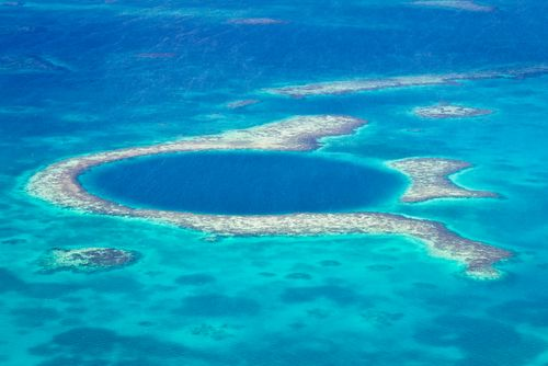 GREAT BLUE HOLE - This great diving destination is about 407 ft deep and 984 ft wide, and is rich in clear water and beautiful marine life. If you love diving, then this great destination is just for you. Thanks to its beauty Great Blue Hole is one of the most beautiful places in the world.