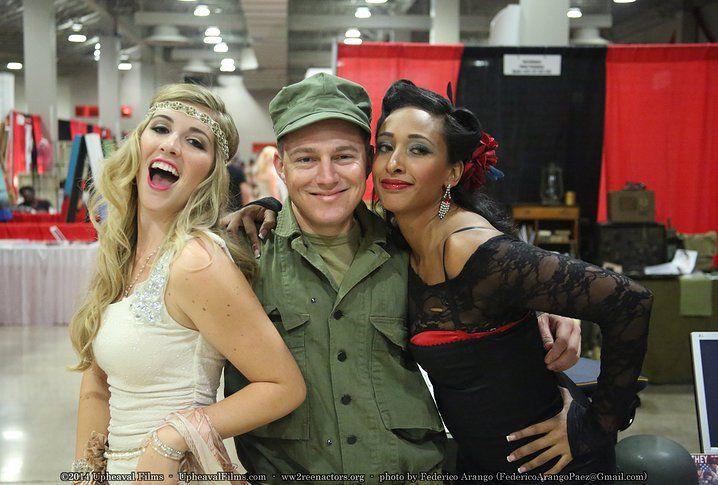 Lacey & Ariel!  Baker Company South Florida World War 2 Reenactors | 2014 Pinned Miami Convention
