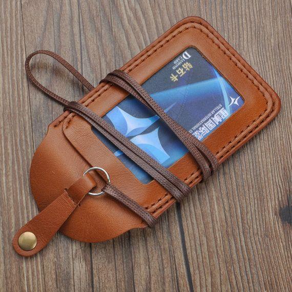 handmade leather ID card walletID card leather by abbycraftshop