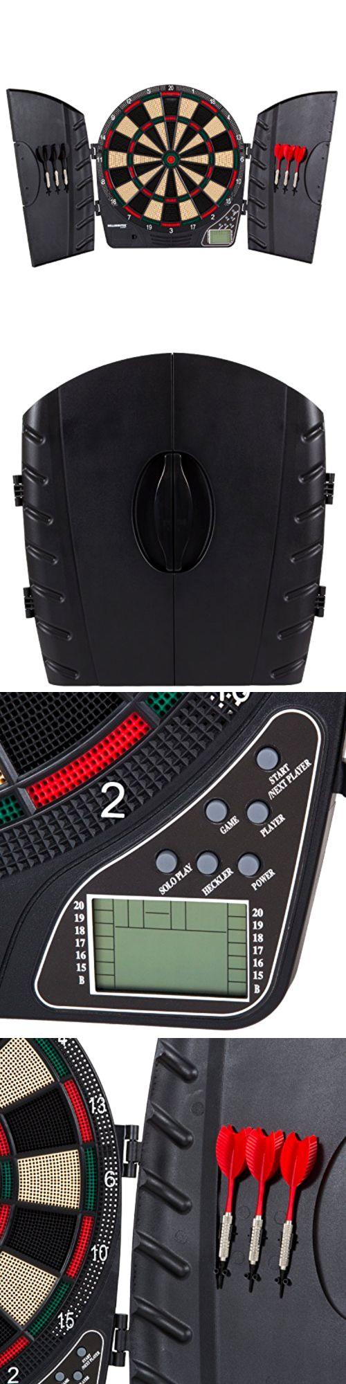 Dart Boards 72576: Bullshooter By Arachnid Reactor Electronic Dartboard Cabinet Set BUY IT NOW ONLY: $41.29