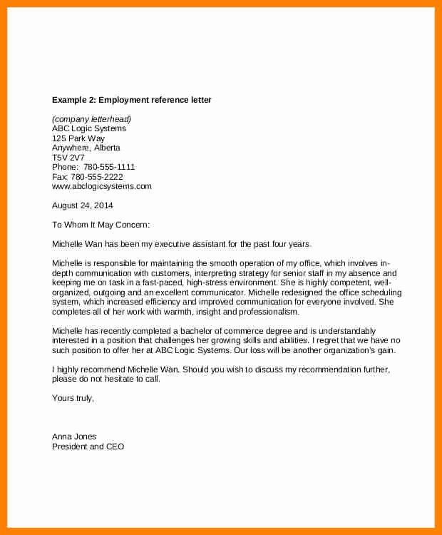30 Recommendation Letter For Executive Assistant In 2020