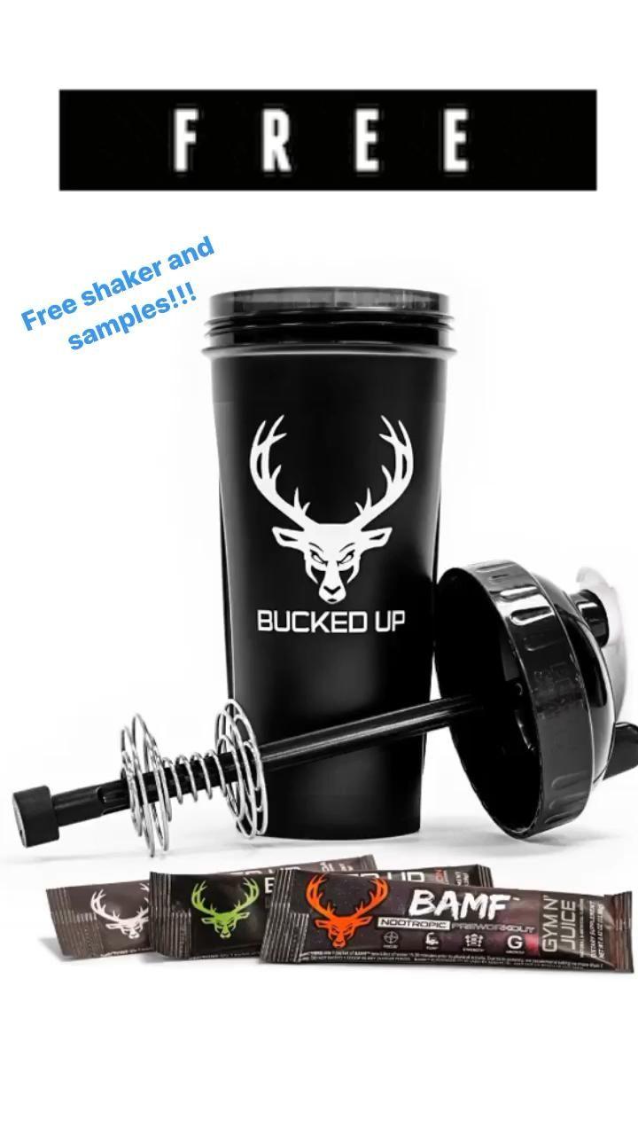 Bucked Up Free Sample : bucked, sample, Preworkout, Samples, Shaker, [Video], Shoulder, Workout,