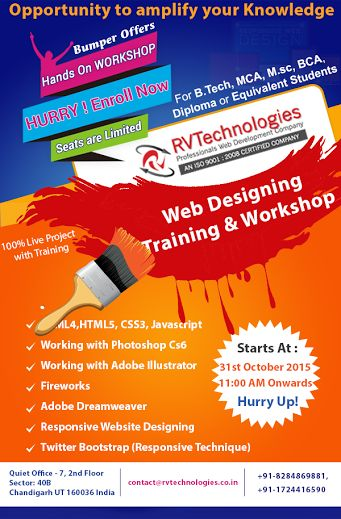 Grab the Opportunity to Amplify Your Knowledge With Web Designing Training in Chandigarh. Now get free cloud computing training with every course. Steal the deal now!